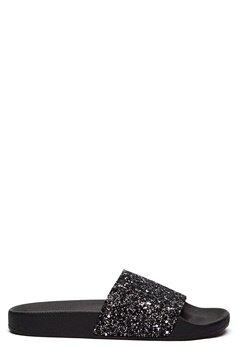 The White Brand Glitter Multi Slippers Black/Multi Bubbleroom.no