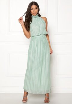 VILA Tippy S/L Maxi Dress Blue Haze Bubbleroom.no