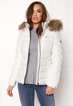 TOMMY JEANS Basic Down Jacket Snow white Bubbleroom.no