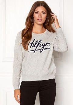 TOMMY HILFIGER DENIM Basic Graphic Hknit Light grey htr Bubbleroom.no