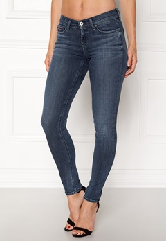 TOMMY JEANS Mid Rise Skinny Nora Dynamic new blue Bubbleroom.no