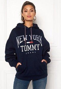 TOMMY JEANS Boyfriend Logo Hoodie Black Iris Bubbleroom.no