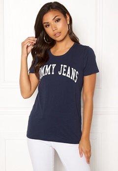 TOMMY JEANS Clean Logo Tee Black Iris Bubbleroom.no