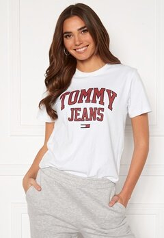 TOMMY JEANS Collegiate Logo Tee YBR White Bubbleroom.no