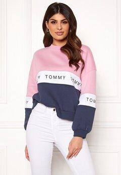 TOMMY JEANS Colorblock Sweatshirt 901 Black Iris/Multi Bubbleroom.no
