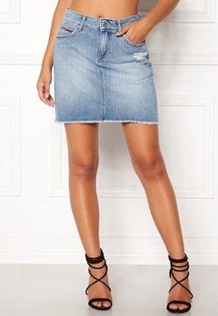 TOMMY JEANS Denim Skirt 911 Bleep Light Blue Bubbleroom.no