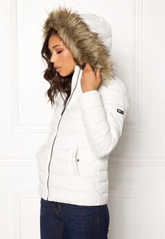 TOMMY JEANS Essential Down Jacket 116 Snow White Bubbleroom.no
