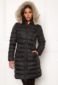 TOMMY JEANS Essential Hooded Down Coat BBU Black Bubbleroom.no