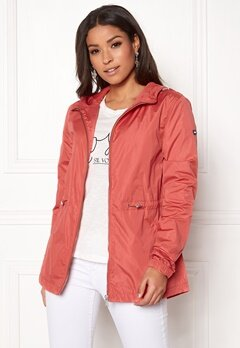 TOMMY JEANS Essential Jacket 689 Spiced Coral Bubbleroom.no