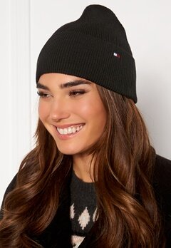 TOMMY JEANS Essential Knit Beanie BDS Black Bubbleroom.no