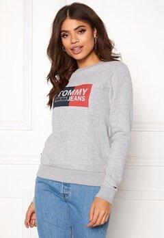 TOMMY JEANS Essential Logo Sweatshirt 038 Lt Grey Bubbleroom.no