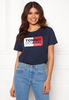 TOMMY JEANS Logo Tee 002 Black Iris Bubbleroom.no