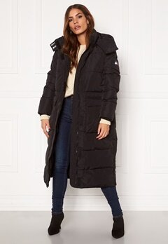 TOMMY JEANS Oversize Modern Puffa Coat BDS Black Bubbleroom.no