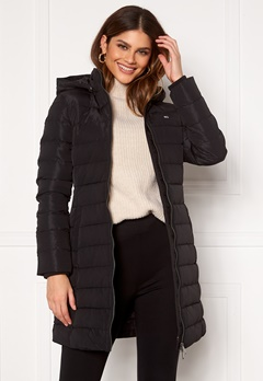 TOMMY JEANS Quilted Down Coat BDS Black Bubbleroom.no