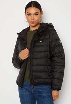 TOMMY JEANS Quilted Hooded Jacket BDS Black Bubbleroom.no