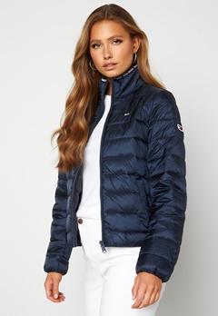 TOMMY JEANS Quilted ZipThrough Twilight Navy Bubbleroom.no