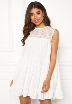 TOMMY JEANS Summer Sleeveless Lace Dress 100 Classic White Bubbleroom.no