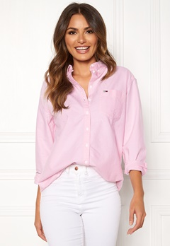 TOMMY JEANS Tommy Classics Shirt 612 Oxford Pink Bubbleroom.no