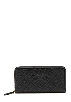 TORY BURCH Fleming Zip Wallet Black Bubbleroom.no