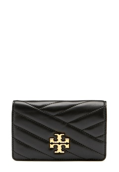 TORY BURCH Kira Chevron M Wallet Black Bubbleroom.no