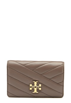 TORY BURCH Kira Chevron M Wallet Classic Taupe Bubbleroom.no