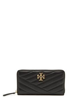 TORY BURCH Kira Chevron Zip Wallet Black Bubbleroom.no