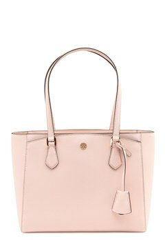TORY BURCH Robinson Small Tote Shell pink Bubbleroom.no