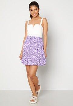Trendyol Flower Flounce Skirt Lila Bubbleroom.no