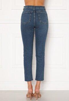 Trendyol High Waist Ankle Jeans Mavi/Blue Bubbleroom.no