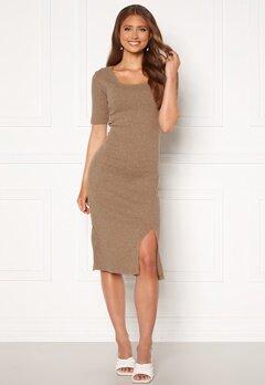 Trendyol Knit Midi Dress Bej/Beige Bubbleroom.no