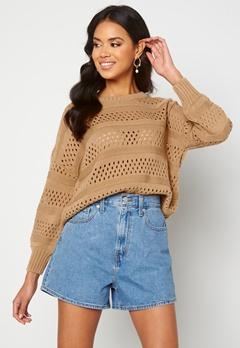 Trendyol Knitted Sweater Camel Bubbleroom.no