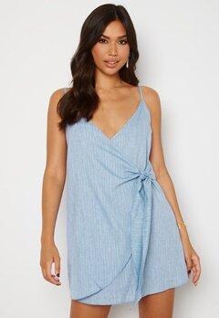 Trendyol Short Wrap Dress Blue Bubbleroom.no