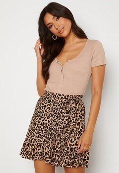 Trendyol Wrap Mini Skirt Brown Bubbleroom.no