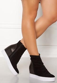 SHOE THE BEAR Trish Suede Shoe 121 White/Black Bubbleroom.no