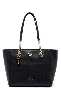 COACH Turn Lock Leather Bag LIBLK Black Bubbleroom.no