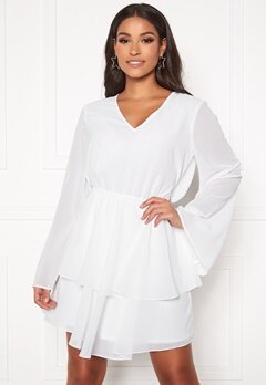 Rut & Circle Tuva Frill Dress White Bubbleroom.no