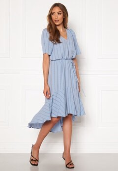 Twist & Tango Alexa Dress Dusty Blue Logo Bubbleroom.no