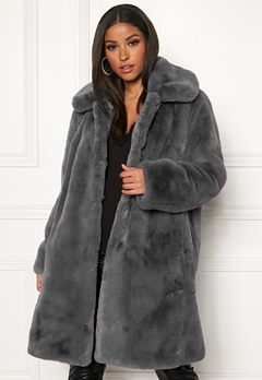 Twist & Tango Birgit Faux Fur Coat Dove Bubbleroom.no
