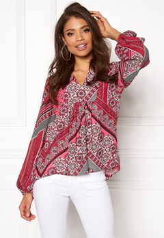 Twist & Tango Callie Blouse Pink Graphic Bubbleroom.no
