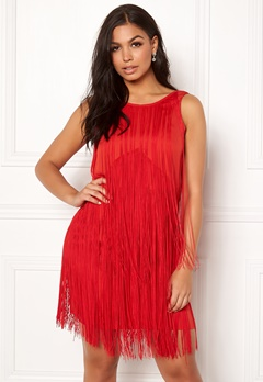 Twist & Tango Clair Fringe Dress Raspberry Bubbleroom.no