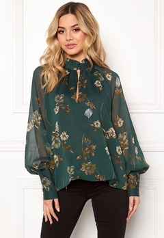 Twist & Tango Eden Blouse Green Botanical Bubbleroom.no