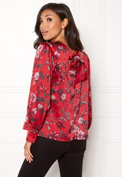 Twist & Tango Edith Blouse Red Flower Bubbleroom.no