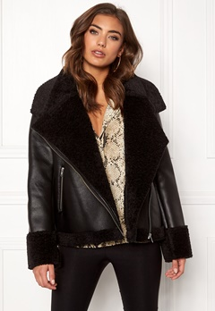 Twist & Tango Jemina Shearling Jacket Black Bubbleroom.no