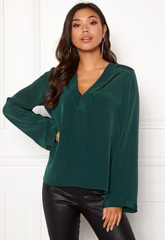Twist & Tango Jennifer Blouse Blackish Green Bubbleroom.no