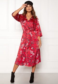 Twist & Tango Maxine Dress Red Flower Bubbleroom.no
