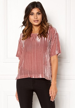 Twist & Tango Meg Velvet Tee Dusty Rose Bubbleroom.no