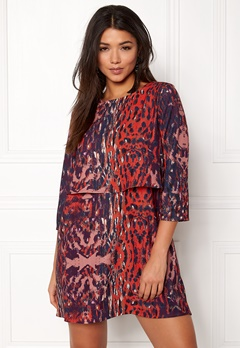 Twist & Tango Sasha Dress Wine Leopard Bubbleroom.no