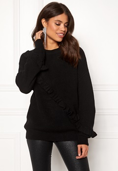 Twist & Tango Sonja Frill Sweater Black Bubbleroom.no