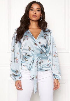 Twist & Tango Valentina Blouse Skyblue Flower Bubbleroom.no