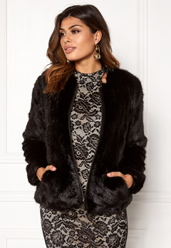 Twist & Tango Viola Faux Fur Jacket Black Bubbleroom.no